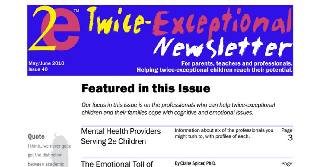 2e Newsletter Issue 40: May/June 2010