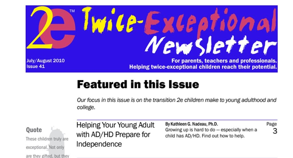 2e Newsletter Issue 41: July/August 2010