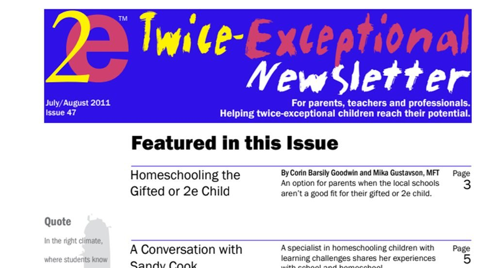 2e Newsletter Issue 47: July/August 2011