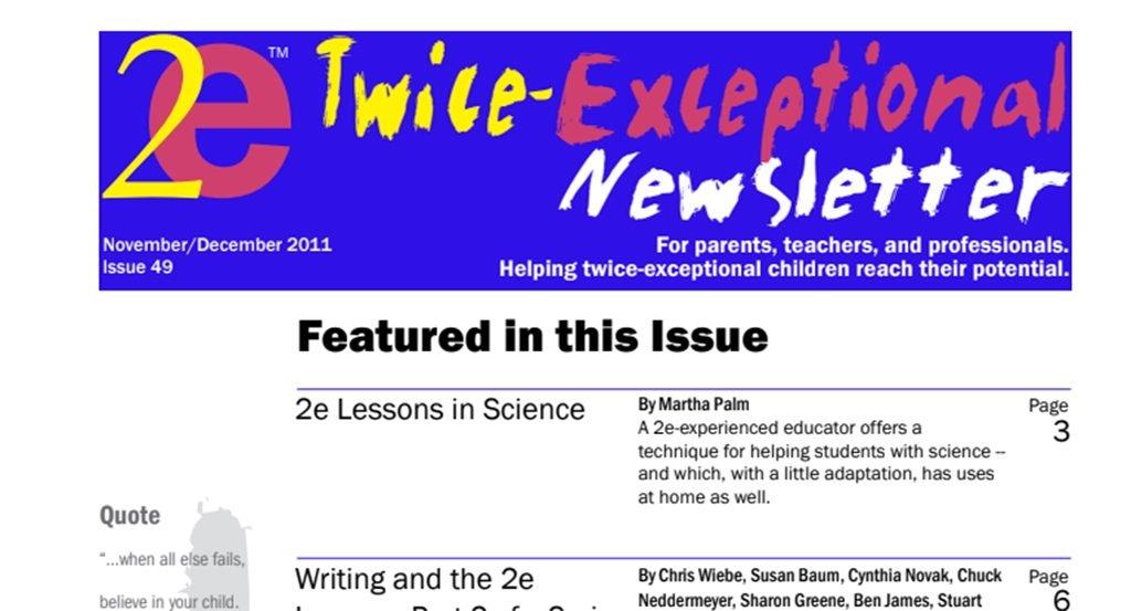 2e Newsletter Issue 49: November/December 2011