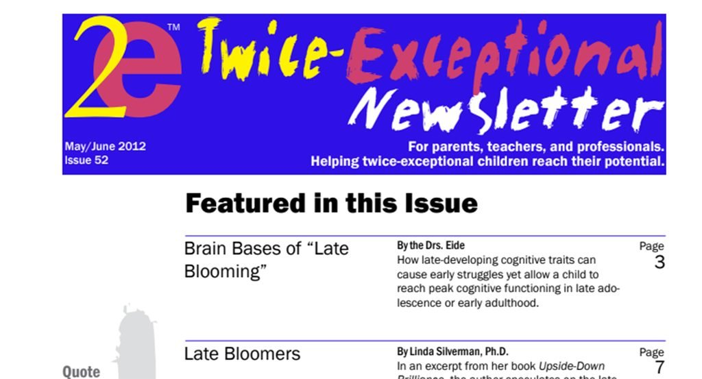 2e Newsletter Issue 52: May/June 2012