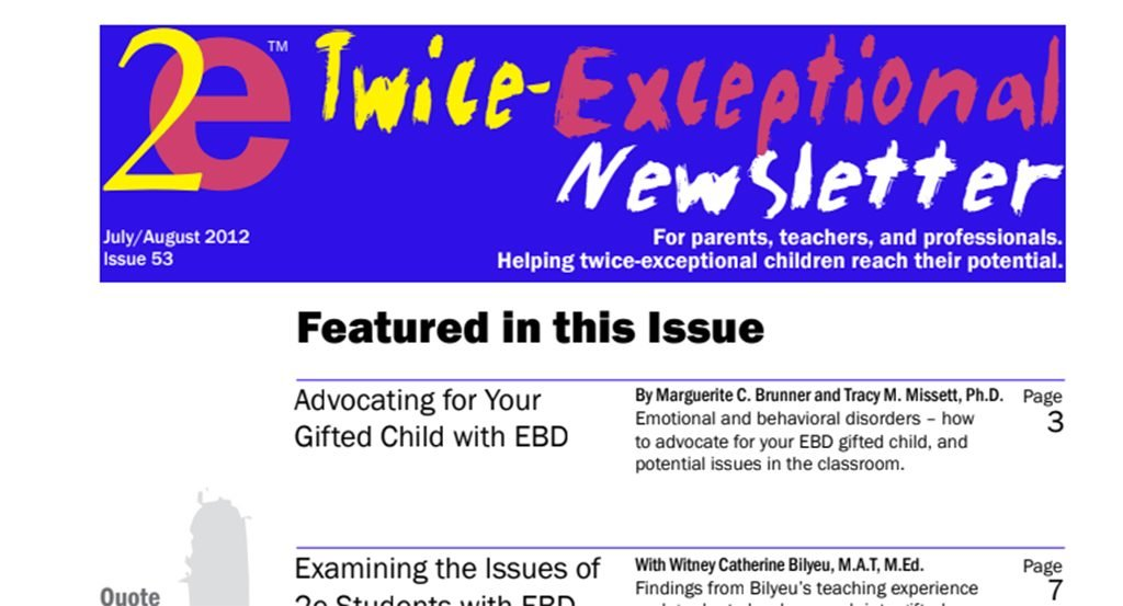 2e Newsletter Issue 53: July/August 2012