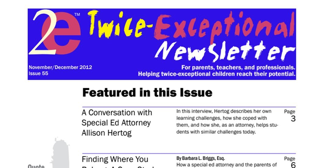 2e Newsletter Issue 55: November/December 2012