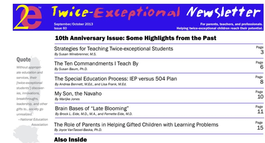 2e Newsletter Issue 60: September/October 2013
