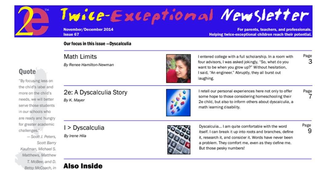 2e Newsletter Issue 67: November/December 2014