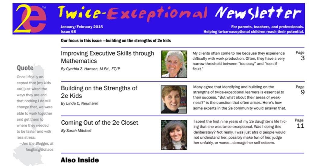 2e Newsletter Issue 68: January/February 2015