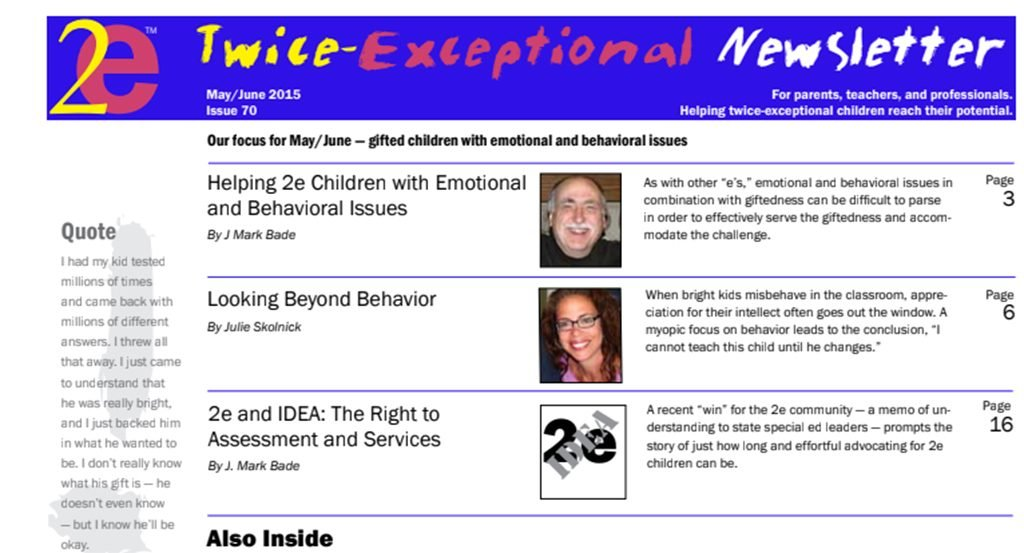 2e Newsletter Issue 70: May/June 2015