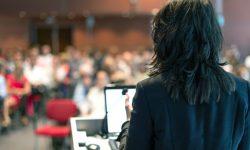 Woman presenting workshop