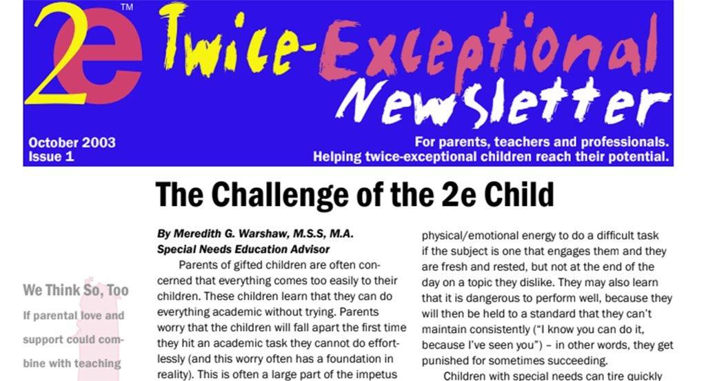 2e Newsletter Issue 1: October 2003
