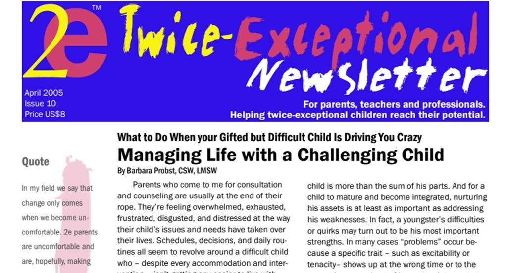 2e Newsletter Issue 10: April 2005