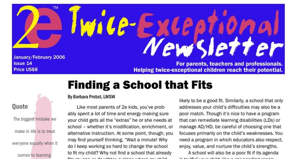 2e Newsletter Issue 14: January/February 2006