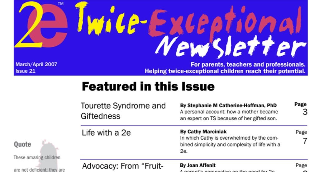 2e Newsletter Issue 21: March/April 2007
