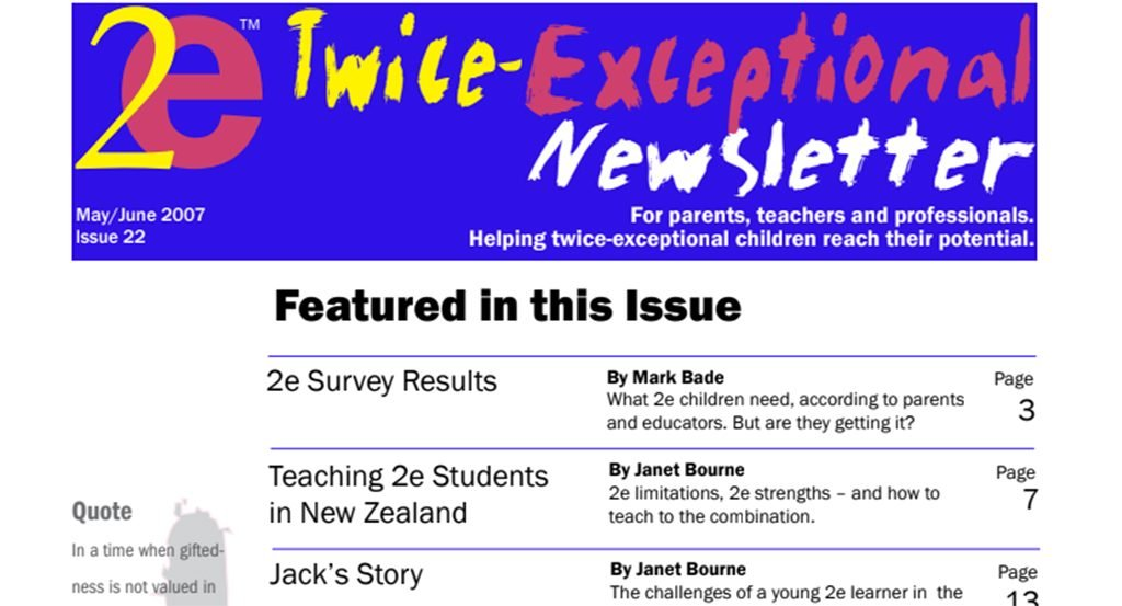 2e Newsletter Issue 23: July/August 2007