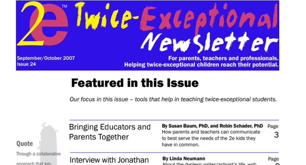 2e Newsletter Issue 24: September/October 2007