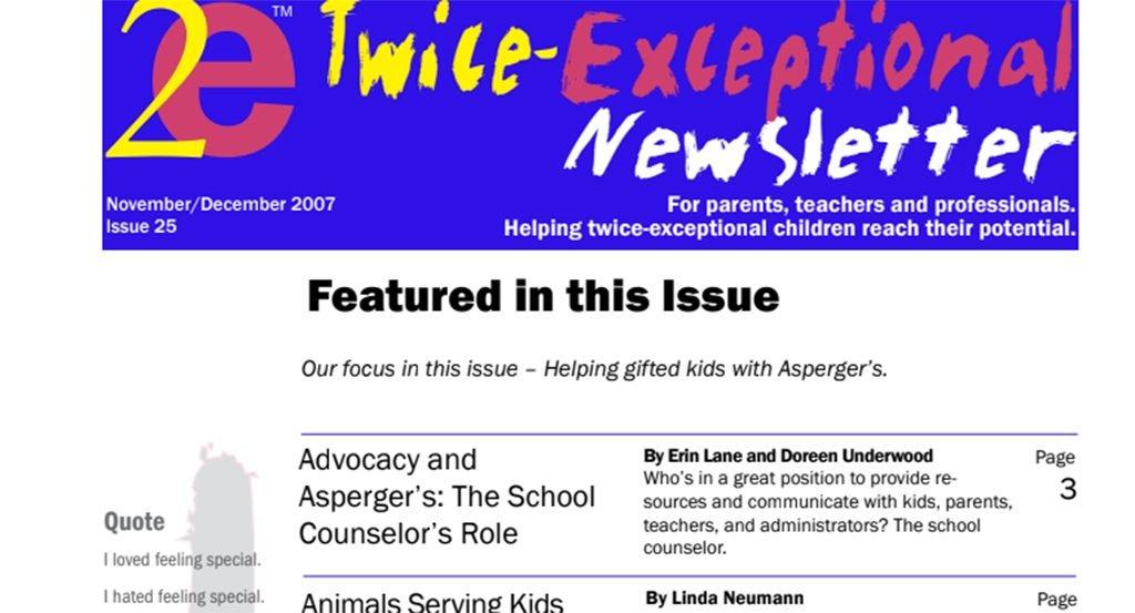 2e Newsletter Issue 25: November/December 2007