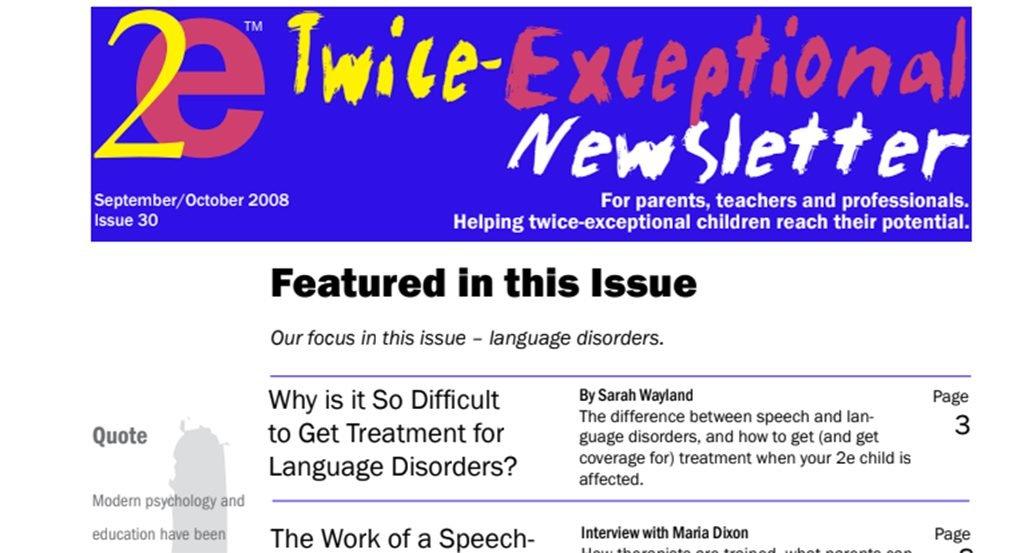 2e Newsletter Issue 30: September/October 2008
