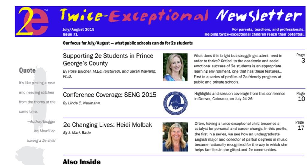2e Newsletter Issue 71: July/August 2015