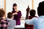 Student teaching classmates