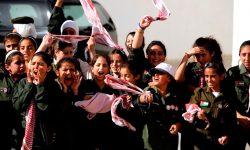 Students in Jordan cheering