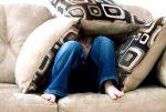 Kid under pillows